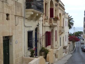 Alley taking to Balluta bay in Sliema, Malta