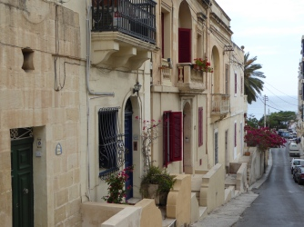 Alley taking to Balluta bay in Sliema, Malta