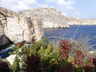 View near Blue Grotto, a natural cave with crystal blue waters Malta