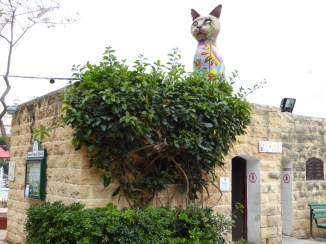 This giant cat sculpture has been achieved at Independance Garden in Sliema. Malta
