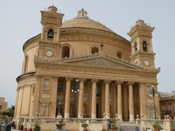 Front view of Mosta church. Malta