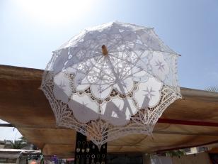 Maltese lace handcraft umbrella