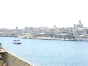 View on Manoel island from Tigne seafront Malta