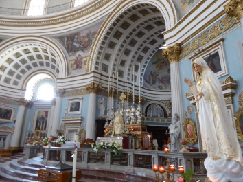 Mosta church in one of the most beautiful churches of Europe.