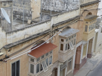 Typical balconies in Malta