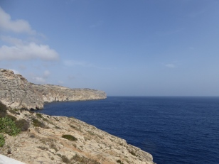View of the sea near Blue Grotto MaltaView of the sea from a cliff near Blue Grotto Malta