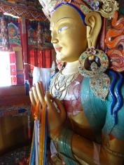 Buddha statue at Thiksey Monastery