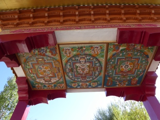 Ceinling of the entrance gate at Thiksey Monastery