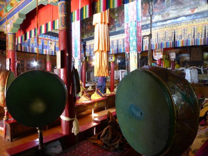 Drums inside Likir Monastery