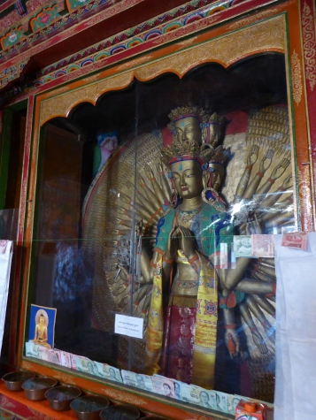 Eleven-headed Buddha or Avalokeshvara at Thiksey Monastery