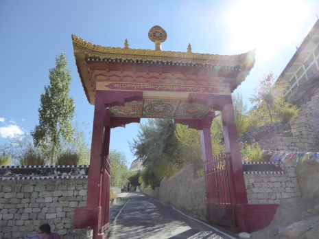 Entrance gate at Thiksey Monastery