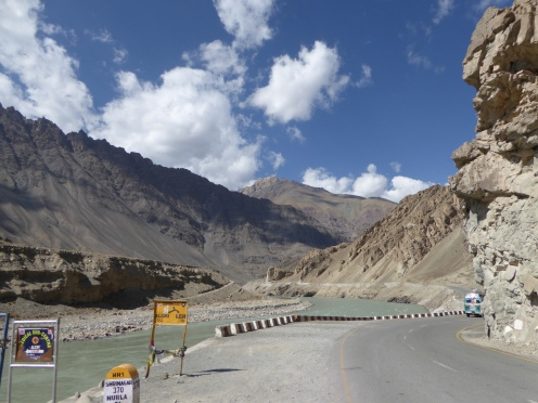 In the middle of the Nubra Valley
