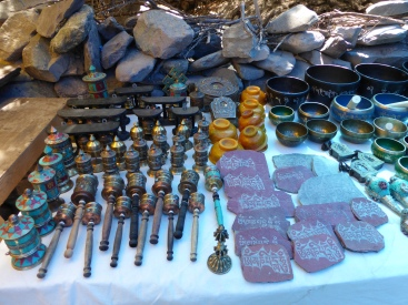 Souvenirs at Alchi village - Wheels of Dharma