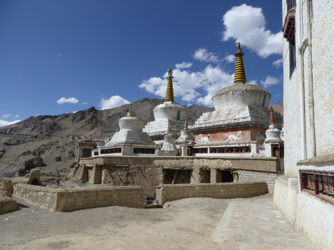 Stupas in the Lamayuru Village