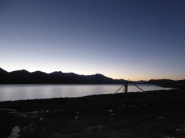 Sunrise over Pangong Tso