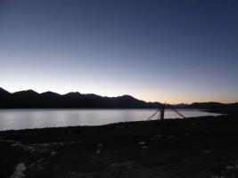 Sunrise over Pangong Tso