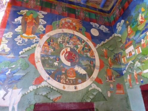 The wheel of life at Lamayuru Monastery