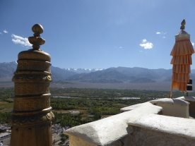 View from the top of Thiksey Monastery