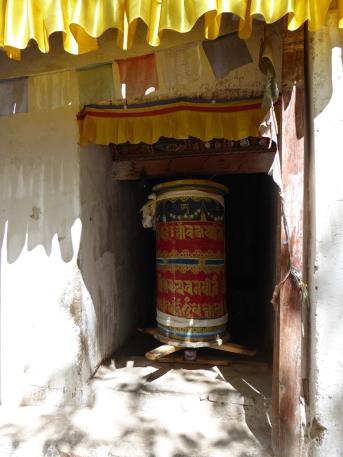 Wheel of prayer at Alchi Village