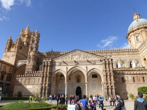 Italy - Sicily - Palermo - Cathedral of Palermo - Front view ''