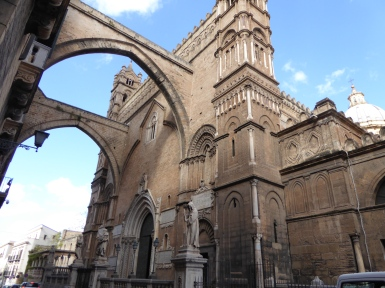 Italy - Sicily - Palermo - Cathedral of Palermo - Side view ''