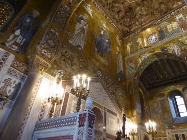 Italy - Sicily - Palermo - Palazzo dei Normanni - Cappella palatina fresco