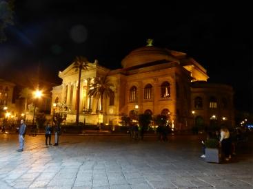 Italy - Sicily - Palermo - Teatro Massimo - By night