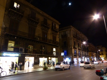 Italy - Sicily - Palermo - Via Roma by night