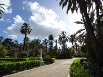Italy - Sicily - Palermo - Villa Bonanni park - Palm trees